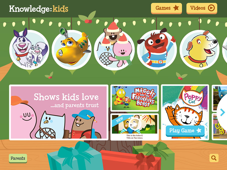 Knowledge Kids Website Christmas Theme