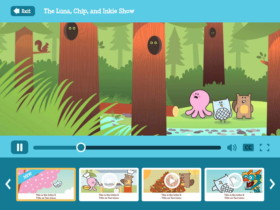 Knowledge Kids Website Video Player